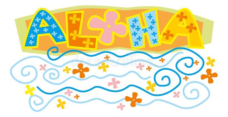 aloha royaltyfri illustrationer