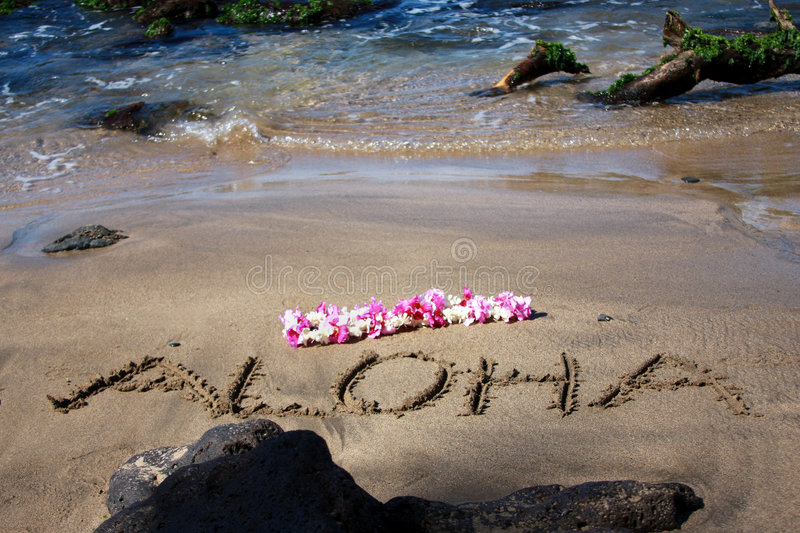 Download Aloha stock image. Image of letters, sand, beach, garland - 4914289