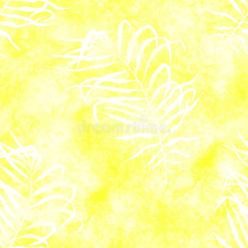 Τροπικό άνευ ραφής σχέδιο Watercolor που χτυπά το PAL απεικόνιση αποθεμάτων