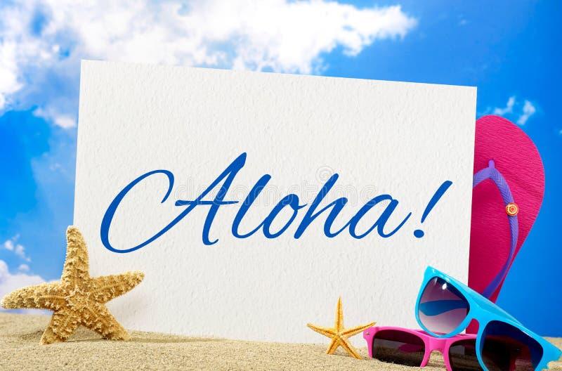 Aloha bandeira imagem de stock royalty free