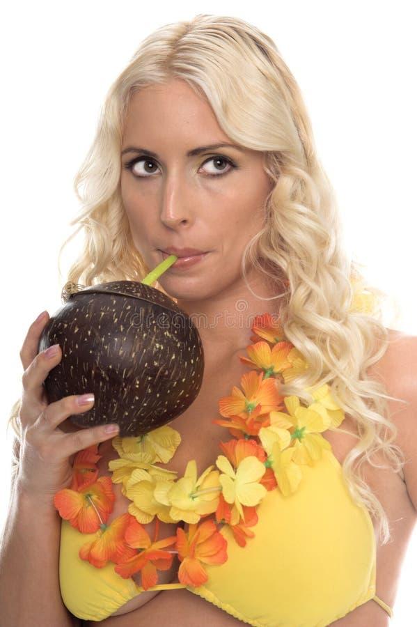 aloha bikiniflicka fotografering för bildbyråer