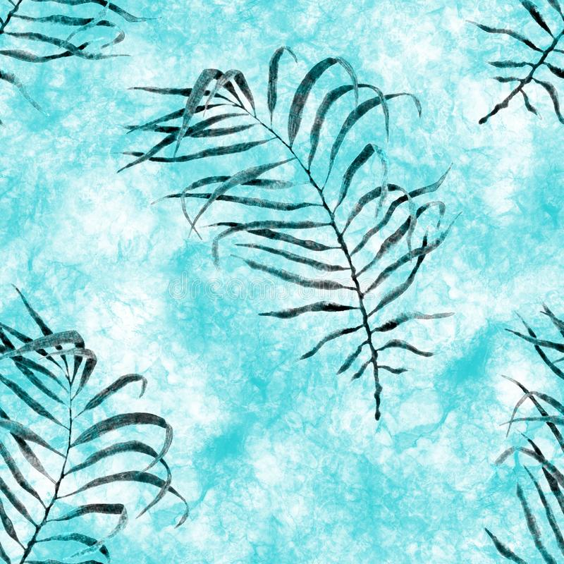 Aloha configuration sans joint hawa?enne Aquarelle agitant le copain illustration libre de droits