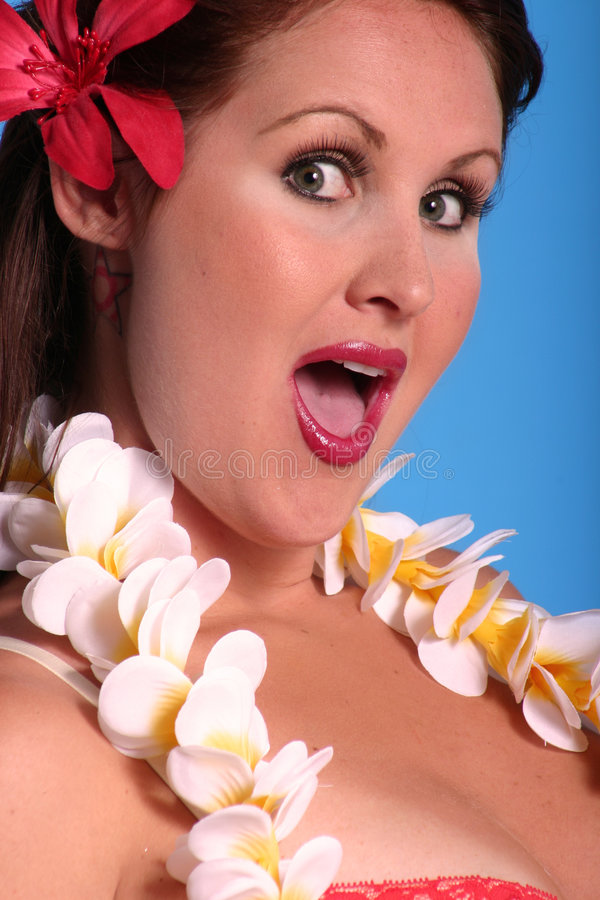 Download Aloha Girl stock image. Image of grin, vertical, hawaii - 171413