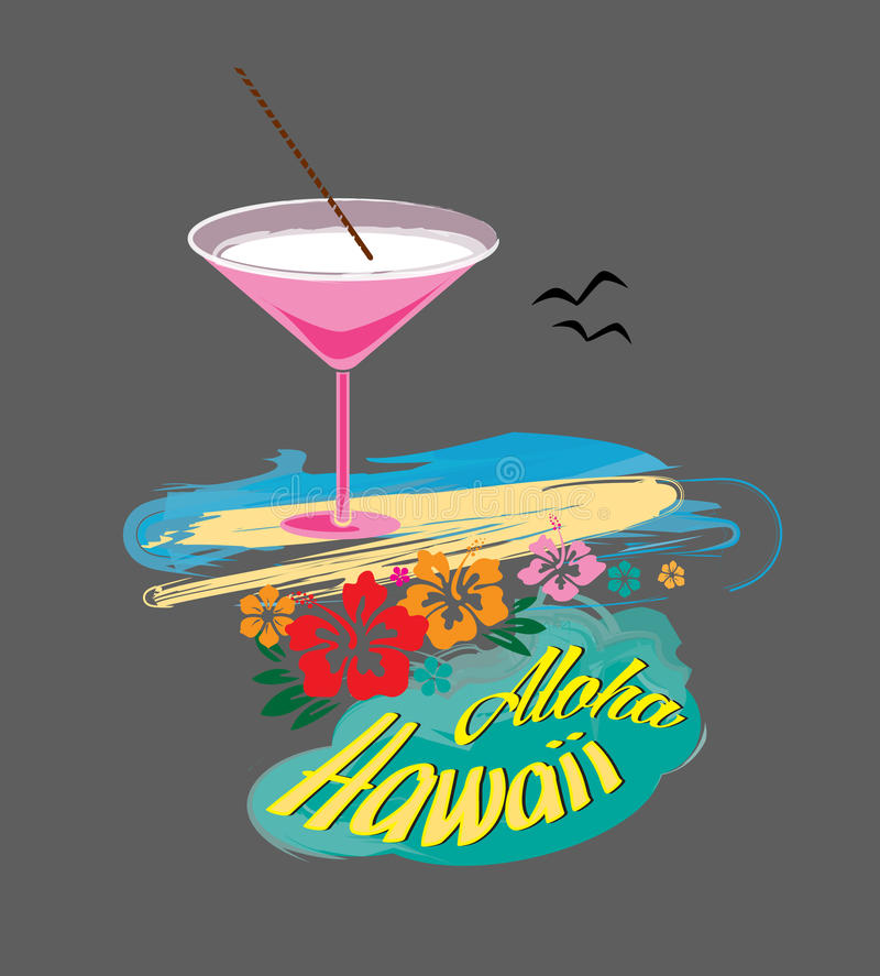 Aloha_Hawaii_by_ Art Angels foto de stock royalty free