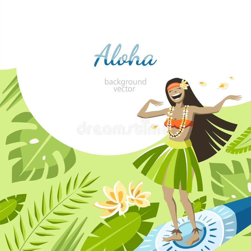 Aloha Hawaii bakgrund royaltyfri illustrationer
