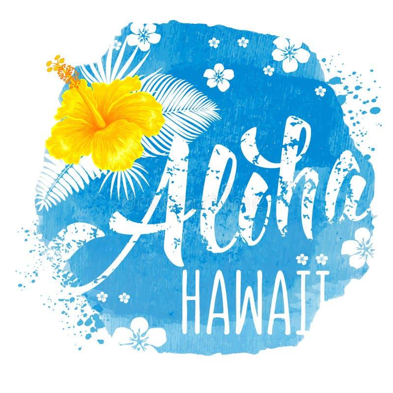 Aloha Hawaii bokstäver vektor illustrationer