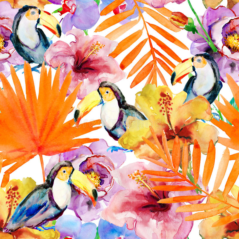 Aloha hawaiisches nahtloses Muster stock abbildung