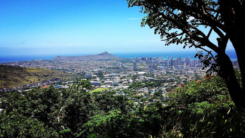 Aloha Honolulu lizenzfreie stockbilder