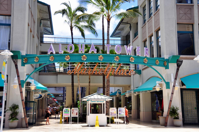 Aloha mercado da torre imagens de stock