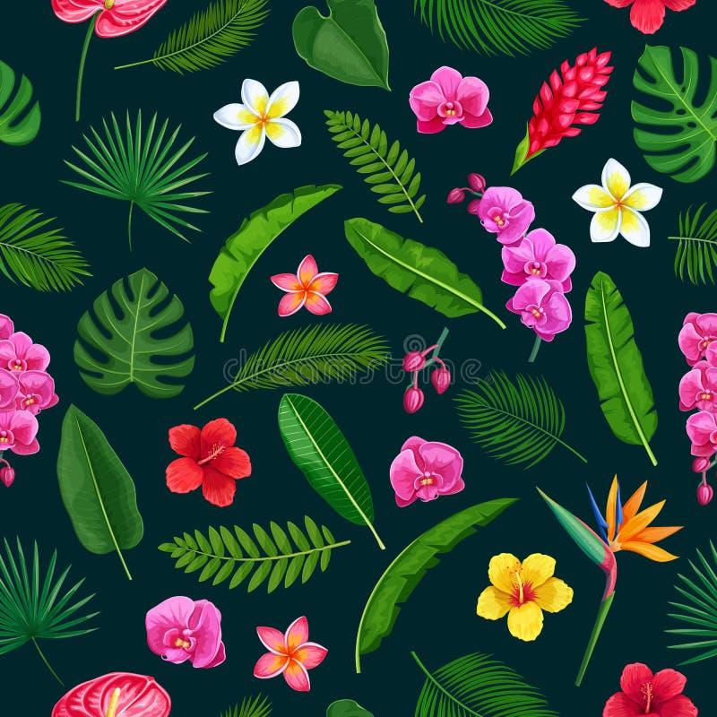 Aloha modelo inconsútil hawaiano ilustración del vector