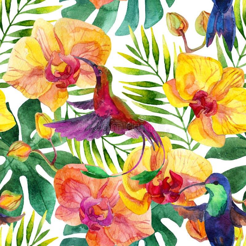Aloha modelo inconsútil hawaiano stock de ilustración