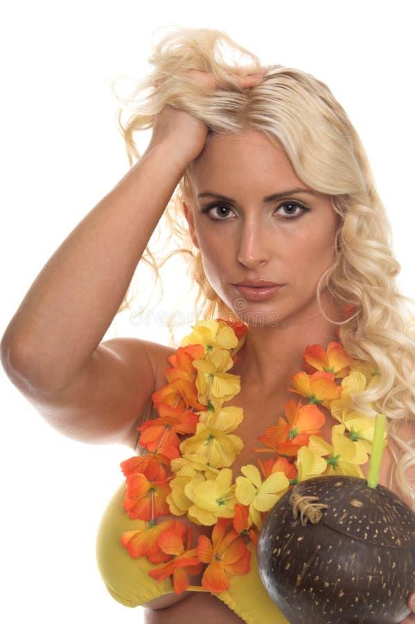 Aloha ragazza del bikini fotografia stock libera da diritti