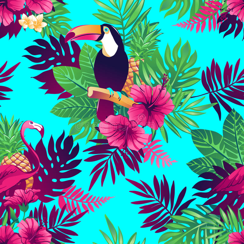 aloha seamless hawaii modell royaltyfri illustrationer