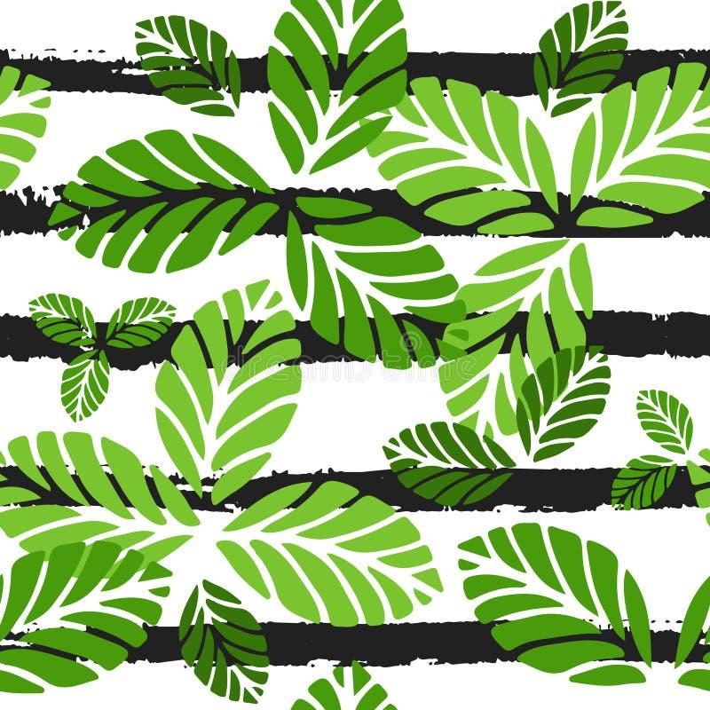 aloha seamless hawaii modell Vektorbakgrund med gräsplansidor och svartband vektor illustrationer