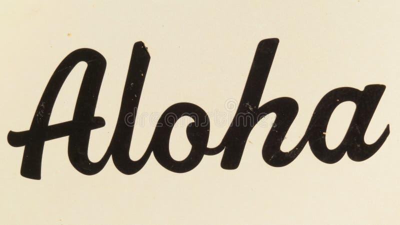 Aloha Sign fotos de stock