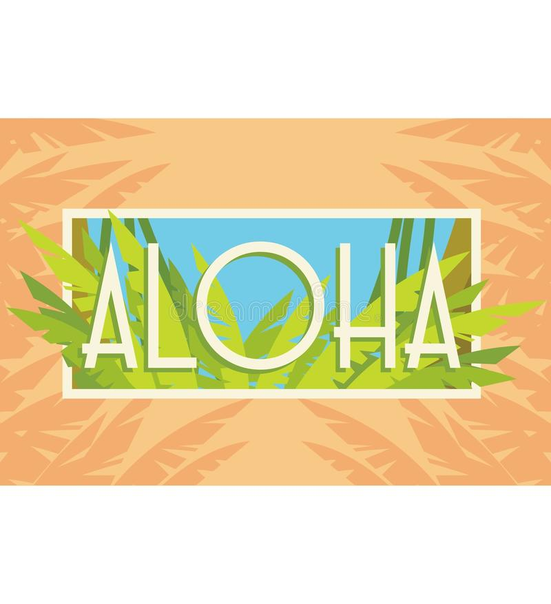 Aloha Summer royalty free stock image