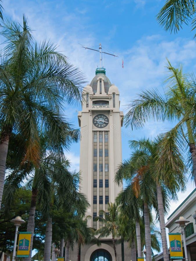 Aloha torre, Honolulu imagem de stock