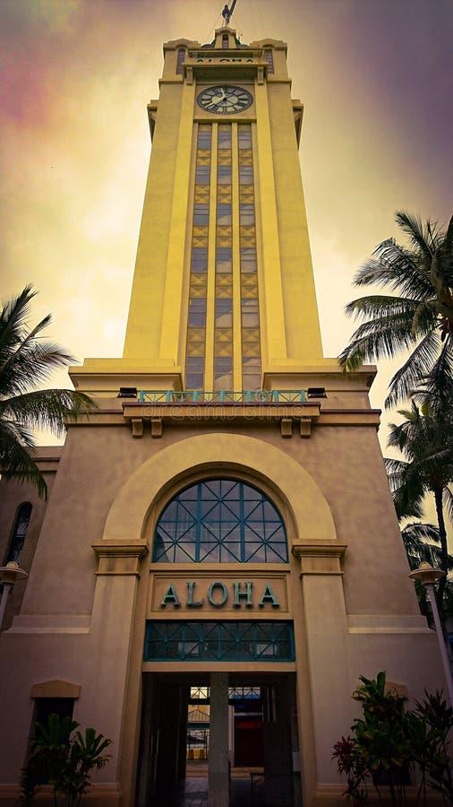 Aloha Tower lizenzfreie stockbilder