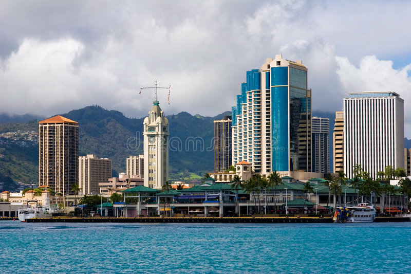 Download Aloha Tower stock photo. Image of clouds, lighthouse, marina - 2699134