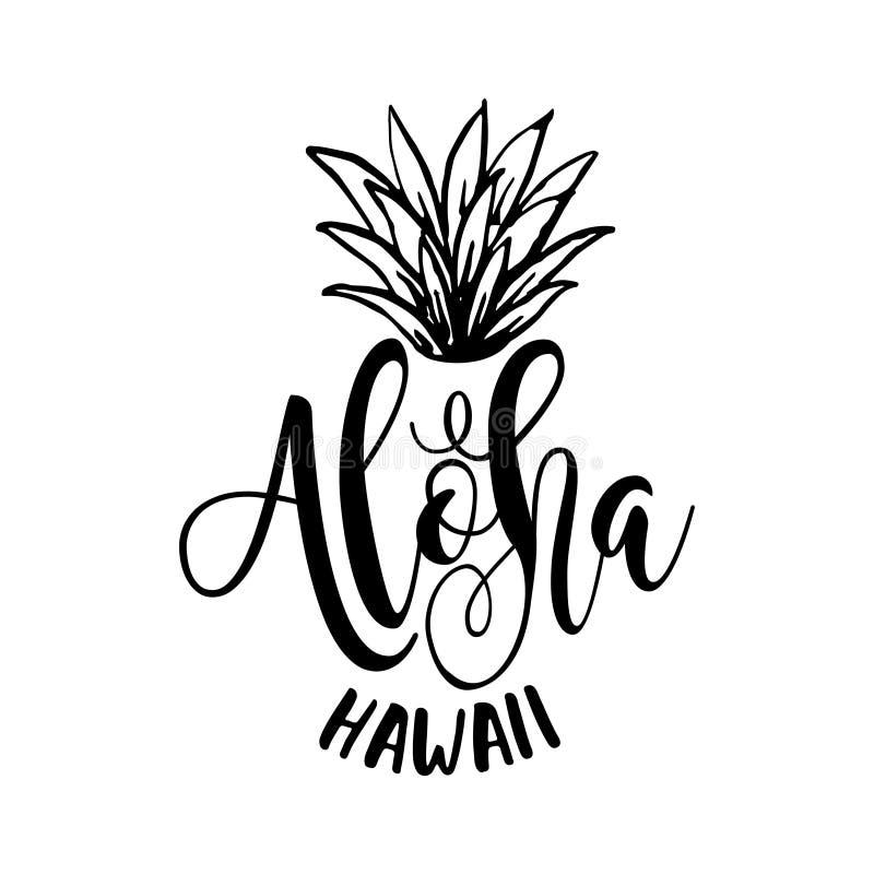 Aloha vibrações somente ilustração royalty free