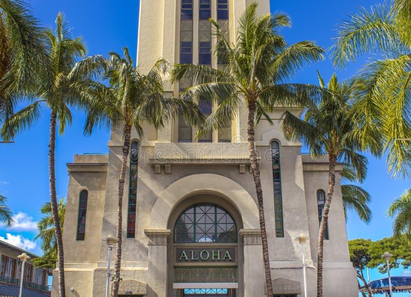 Aloha wierza obrazy stock