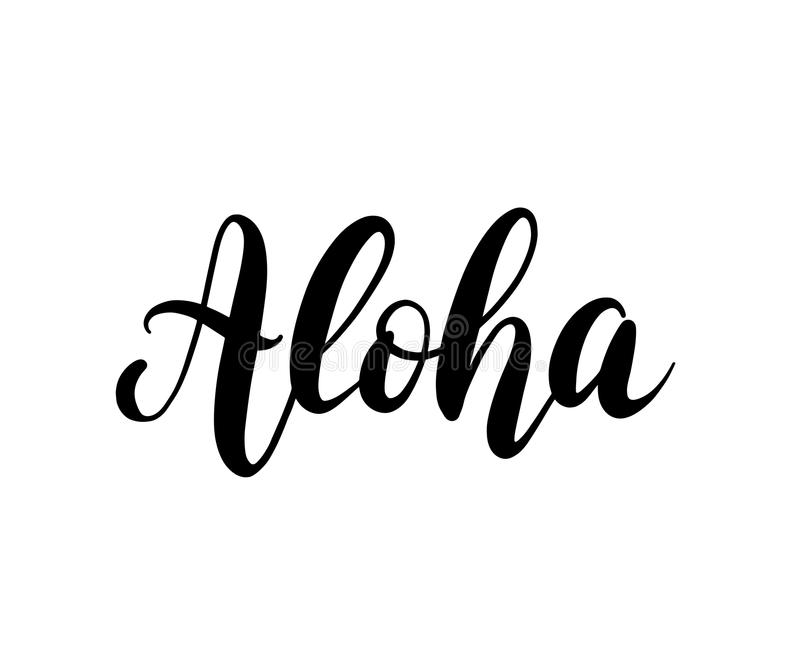 Aloha word lettering brush calligraphy vector illustration for download aloha word lettering brush calligraphy vector illustration for print on shirt card m4hsunfo