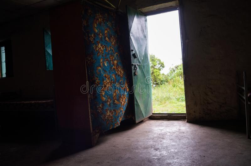 Alojamento, acomodação, caminhando nas montanhas de Simien, Etiópia imagem de stock