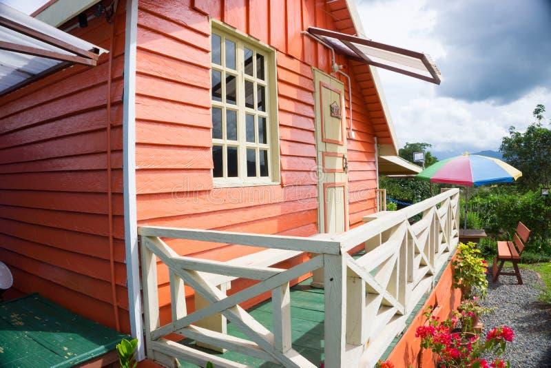 Alojamento da cabine de Marakau foto de stock