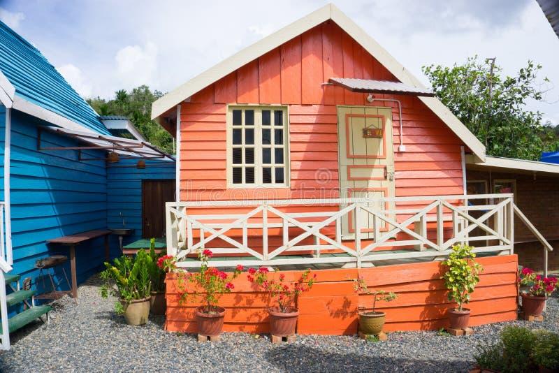 Alojamento da cabine de Marakau fotos de stock