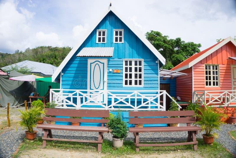 Alojamento da cabine de Marakau imagem de stock