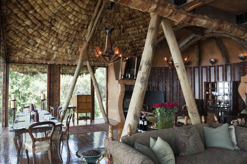 Alojamento da cratera de Ngorongoro fotos de stock royalty free