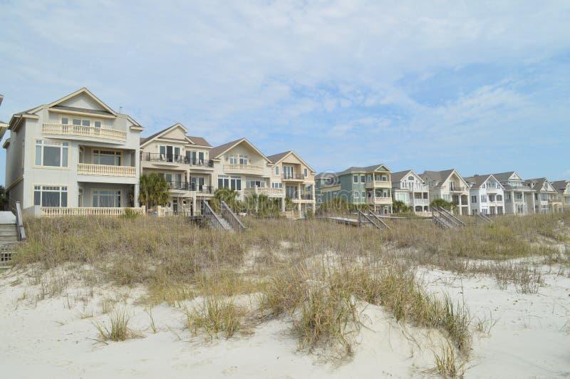 Alojamento da parte dianteira de oceano, Hilton Head Island, South Carolina imagens de stock