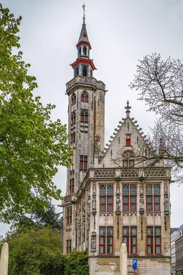 Alojamento de Poortersloge Merchants', Bruges, Bélgica fotos de stock
