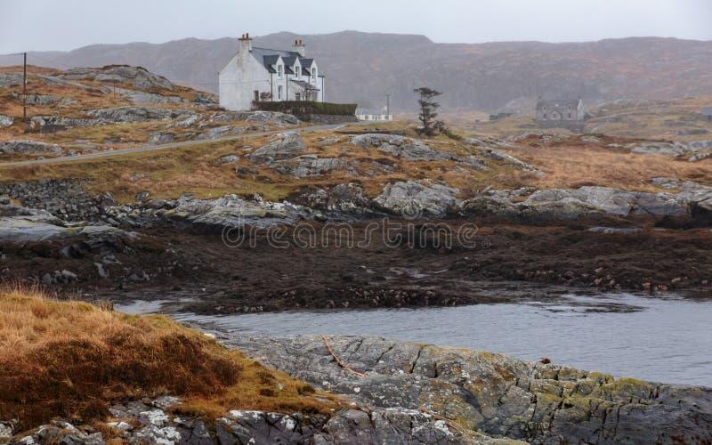 Alojamento Hebrides exterior Escócia do país imagens de stock royalty free