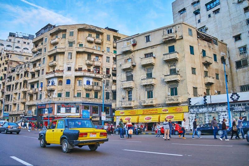 Alojamento velho de Alexandria, Egito fotografia de stock