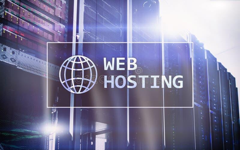 Alojamento web, fornecendo o espaço de armazenamento e o acesso para Web site imagem de stock royalty free