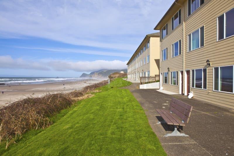 Alojamentos Lincoln City Oregon da vista para o mar imagens de stock royalty free