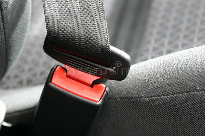 Alojamiento del cinturón de seguridad de coche fotografía de archivo
