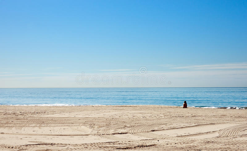 Download Alone on the beach stock photo. Image of beach, watch - 19404942