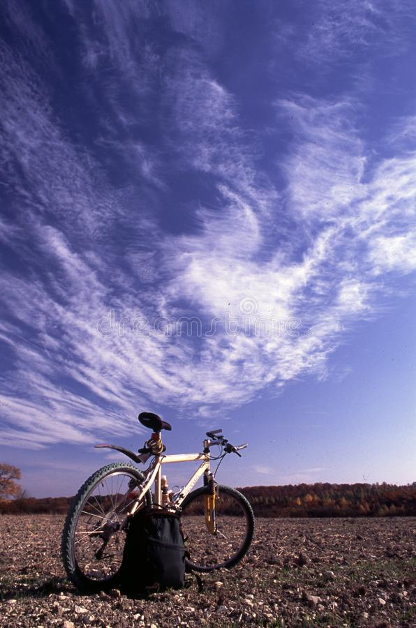 Alone bike royalty free stock images