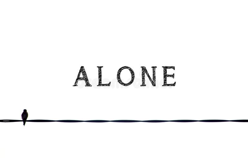 Alone stock photography