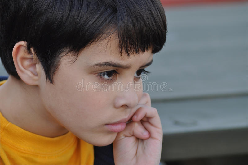 Download Alone, Biting Nails stock image. Image of bully, diversity - 13716721