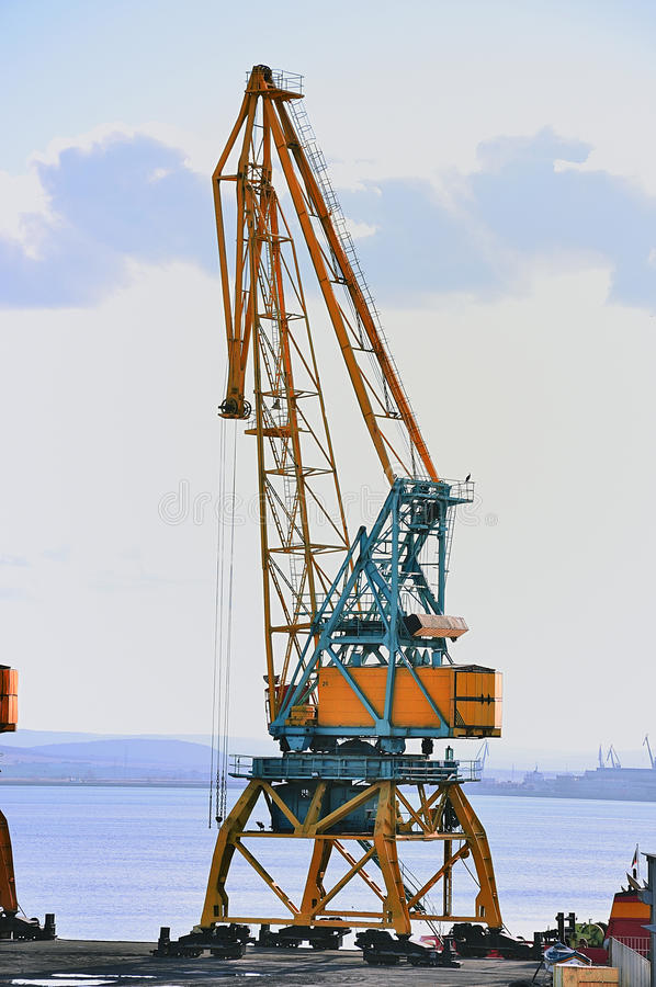 Download Alone Crane on a port stock photo. Image of dockside - 12495166