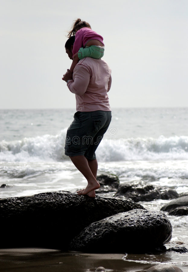 Download Alone with Daddy stock image. Image of rocks, protect, piggy - 577141