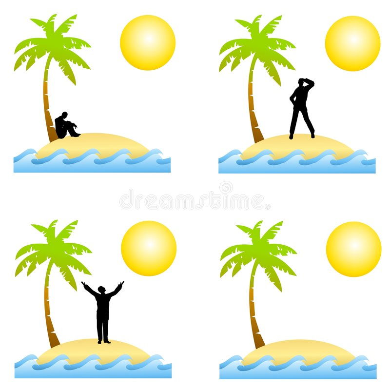 Download Alone On A Deserted Island stock illustration. Image of clip - 4633421