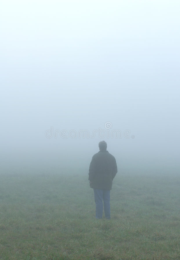 Alone In Fog Royalty Free Stock Image
