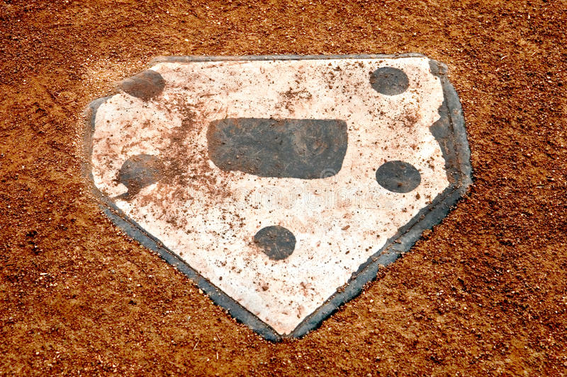 Download Alone at home plate stock image. Image of nature, infield - 33292707