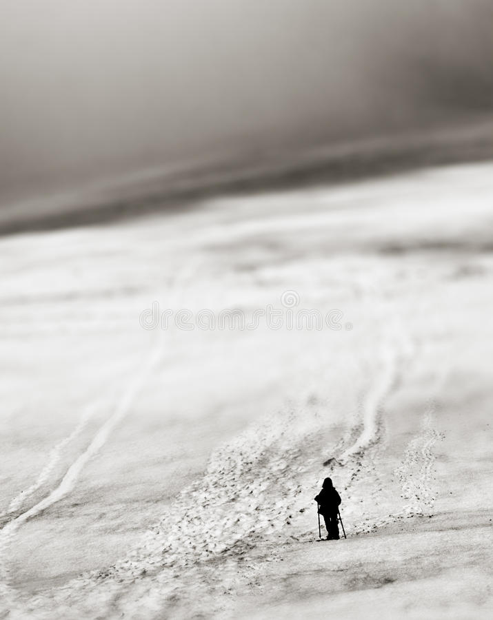 Alone in the mountains royalty free stock images