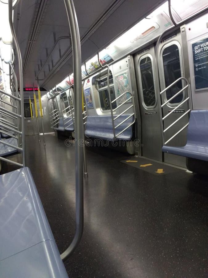 Empty Subway Car, New York City, USA stock images