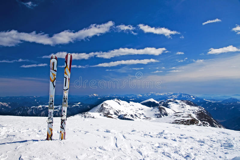 Download Alone Ski Stock Photography - Image: 14533582